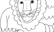 Disegni degli animali: leone
