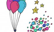 Disegno da colorare: adesivi per Carnevale