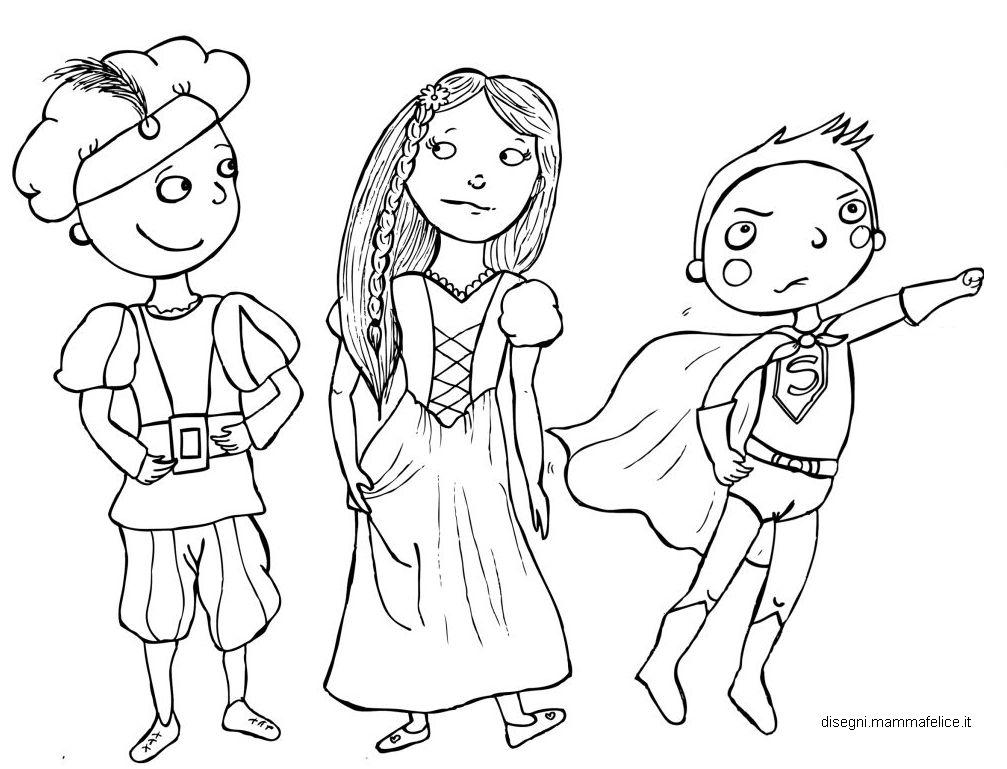 Disegni da colorare per carnevale disegni mammafelice for Maschere di carnevale tradizionali da colorare per bambini da stampare