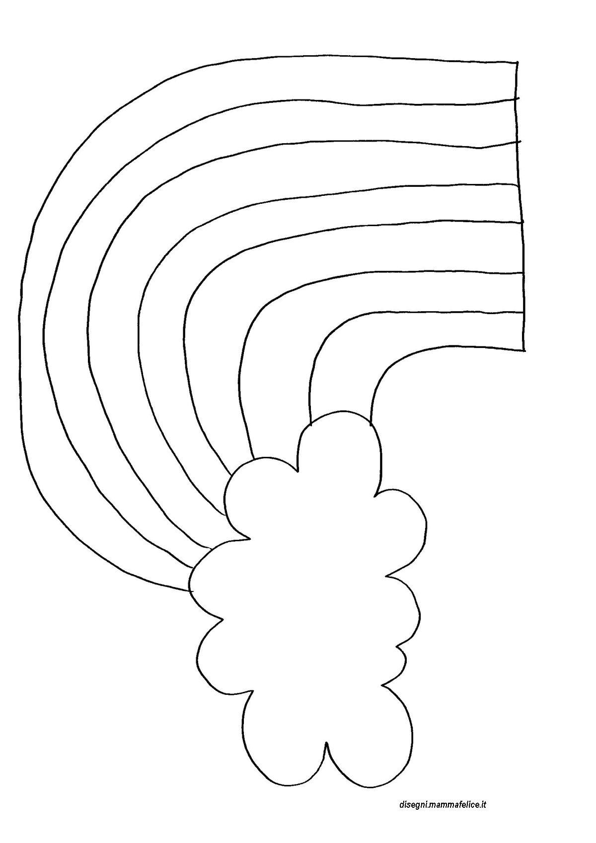 disegno da colorare arcobaleno disegni mammafelice
