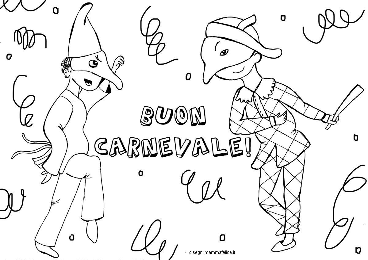 Disegno da colorare per carnevale disegni mammafelice for Disegno pagliaccio da colorare