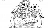disegno-da-colorare-per-bambini-pasqua-coniglietti-cestino