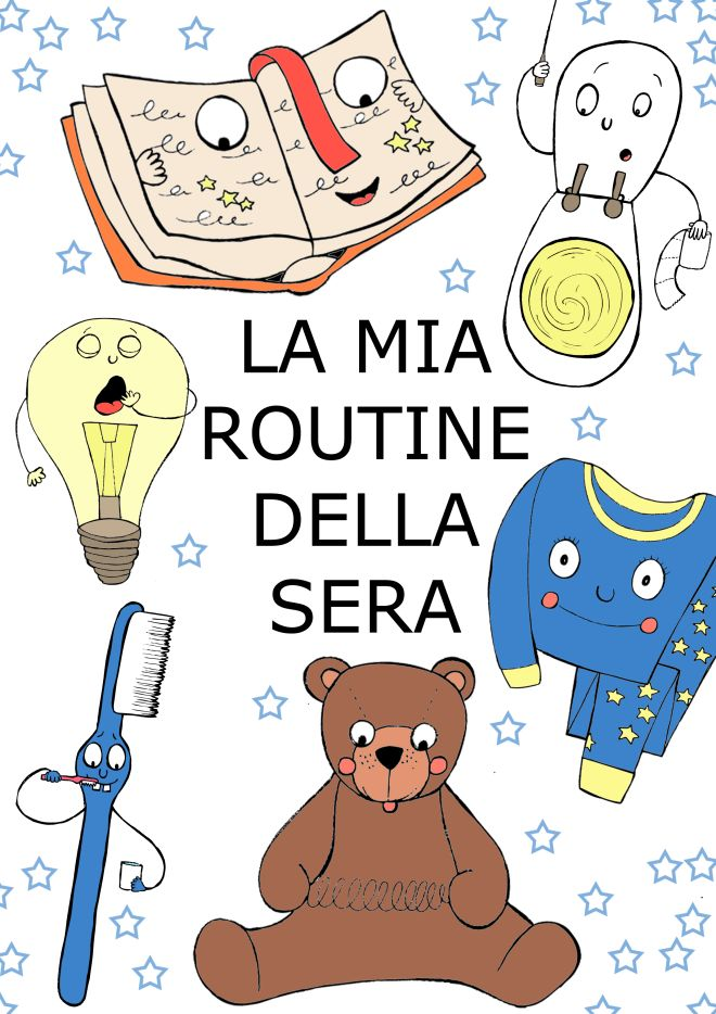 Molto Disegno da colorare: la routine della sera | Disegni Mammafelice OI44