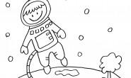 Bambino astronauta da colorare