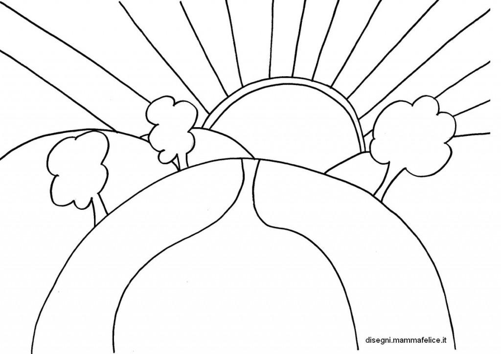 Disegno da colorare cielo e sole disegni mammafelice for Immagini sole da colorare