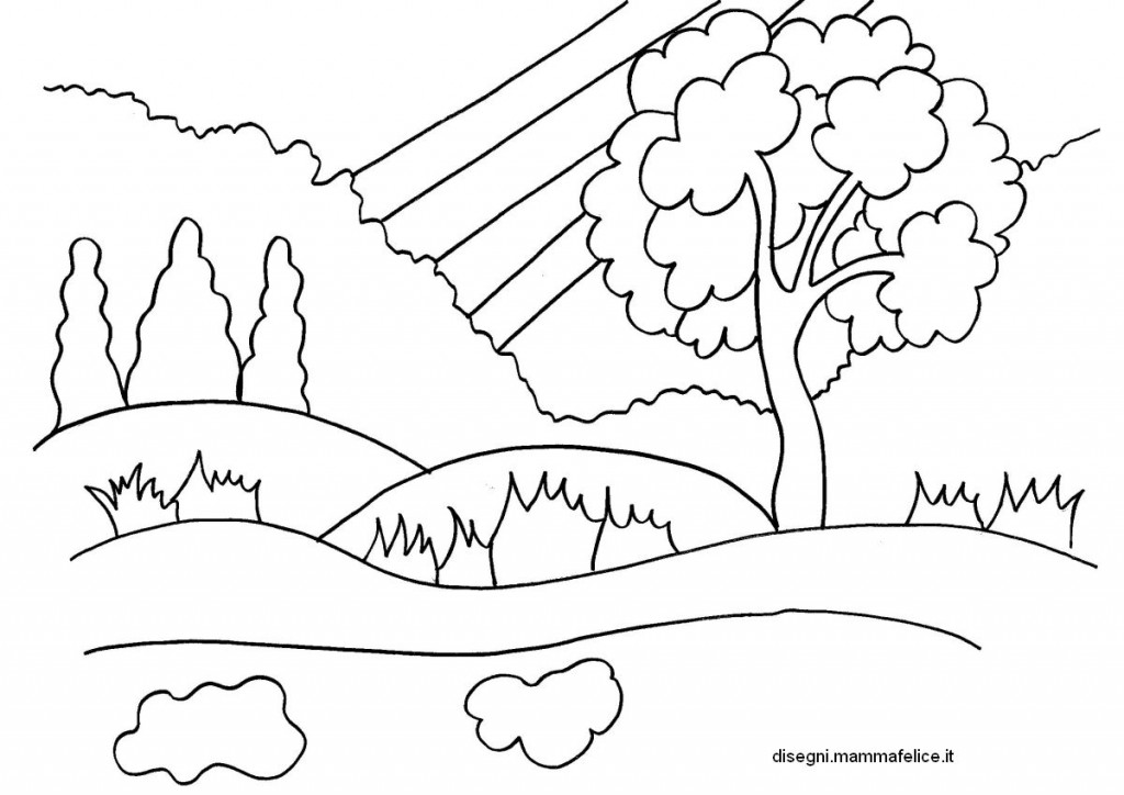 Disegno da colorare sulla primavera disegni mammafelice for Disegni da colorare paesaggi marini