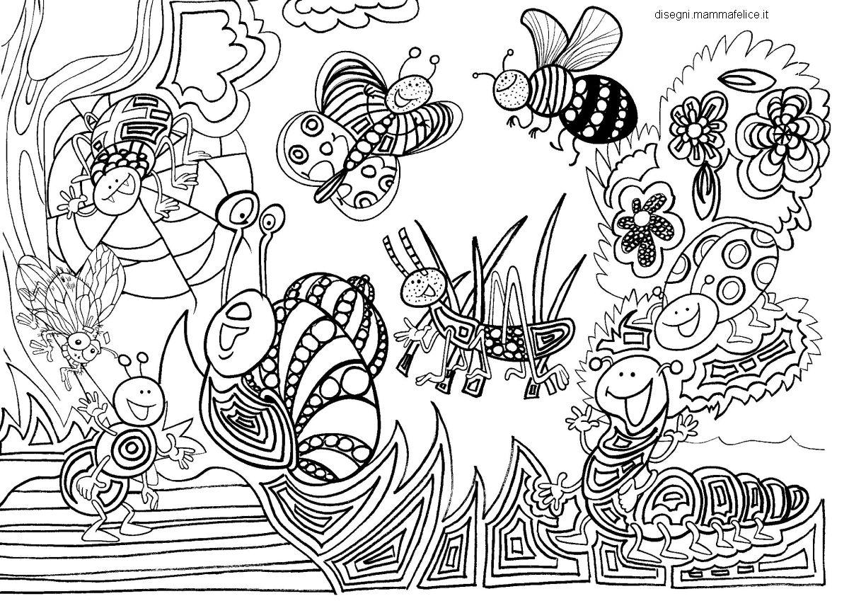Mandala per bambini da colorare disegni mammafelice for Disegni da colorare per adulti paesaggi