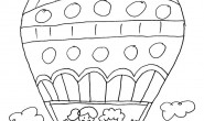 Disegno da colorare per bambini: la mongolfiera