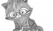 Mandala da colorare: Il gattino studioso