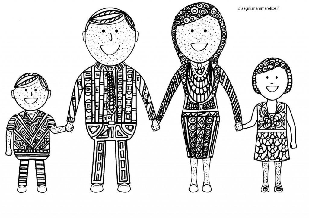 Mandala da colorare la famiglia felice disegni mammafelice for Immagini gatti da colorare
