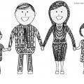 mandala-da-colorare-per-bambini-la-famiglia-felice