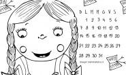 Calendario da colorare: il mese di Giugno
