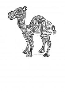 disegni-da-colorare-natale-il-dromedario