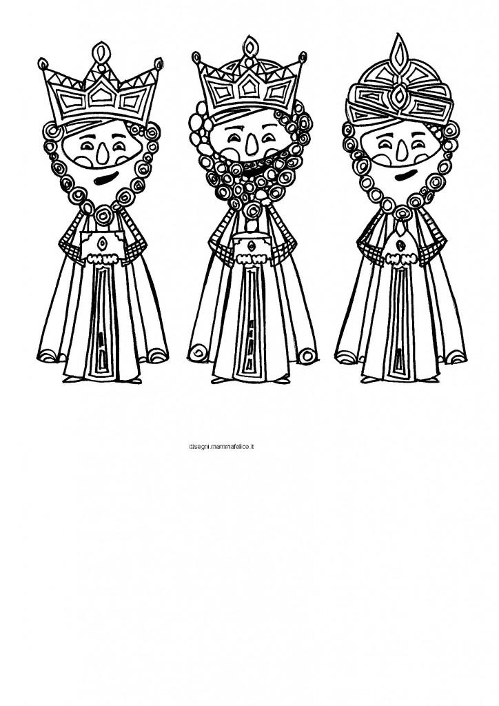 disegni da colorare  i re magi