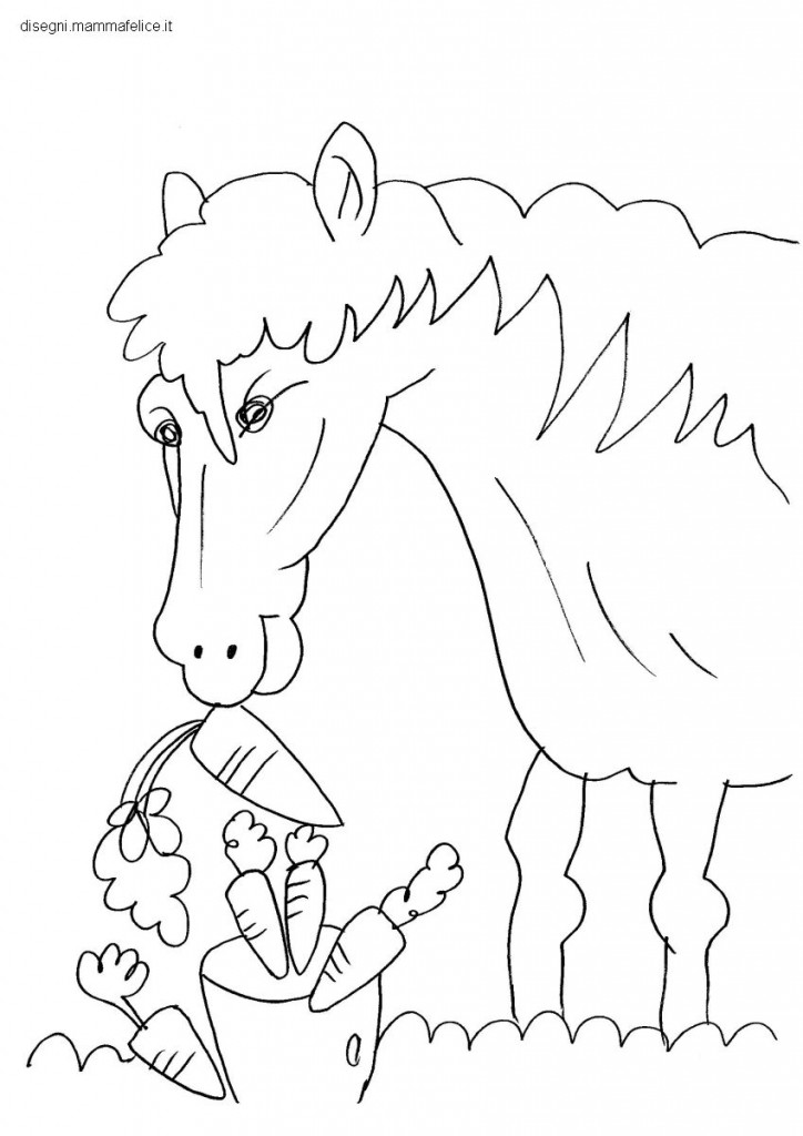 Disegno da colorare per bambini il cavallo disegni for Disegni di cavalli da stampare e colorare