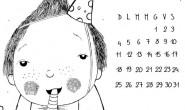 Calendario perpetuo da colorare per bambini