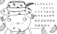 Calendario da colorare: il mese di Luglio