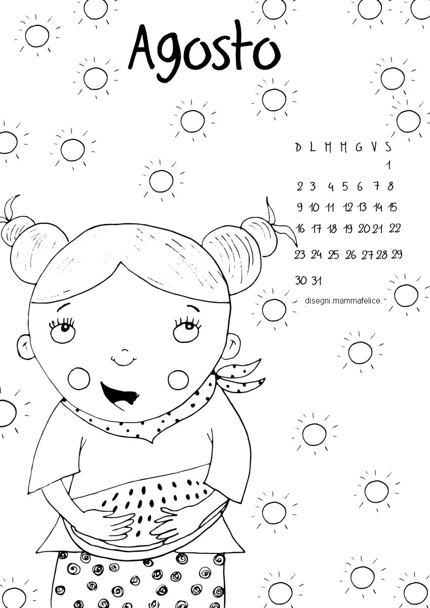 disegno-da-colorare-bambini-mese-di-agosto