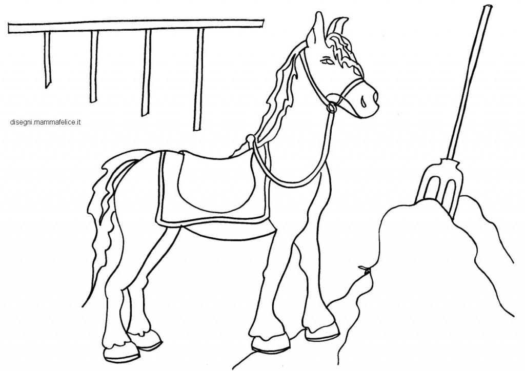 Disegni Da Colorare Cavalli E Cavalieri.Disegno Da Colorare Per Bambini Il Cavallo E Il Fieno Disegni Mammafelice