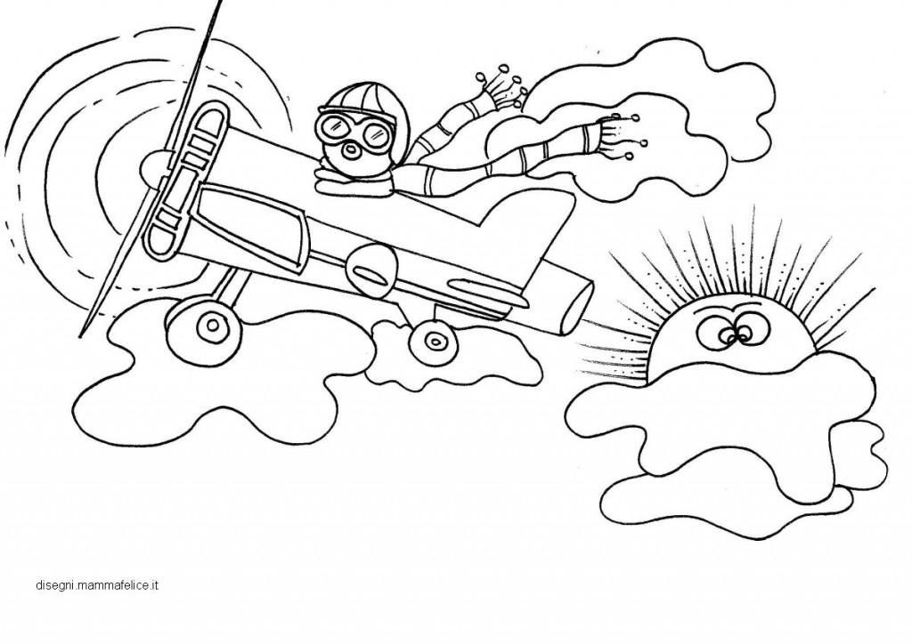 Disegni da colorare per bambini aviatore e aereo for Sole disegno da colorare