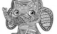 Mandala per bambini da colorare: l'elefante