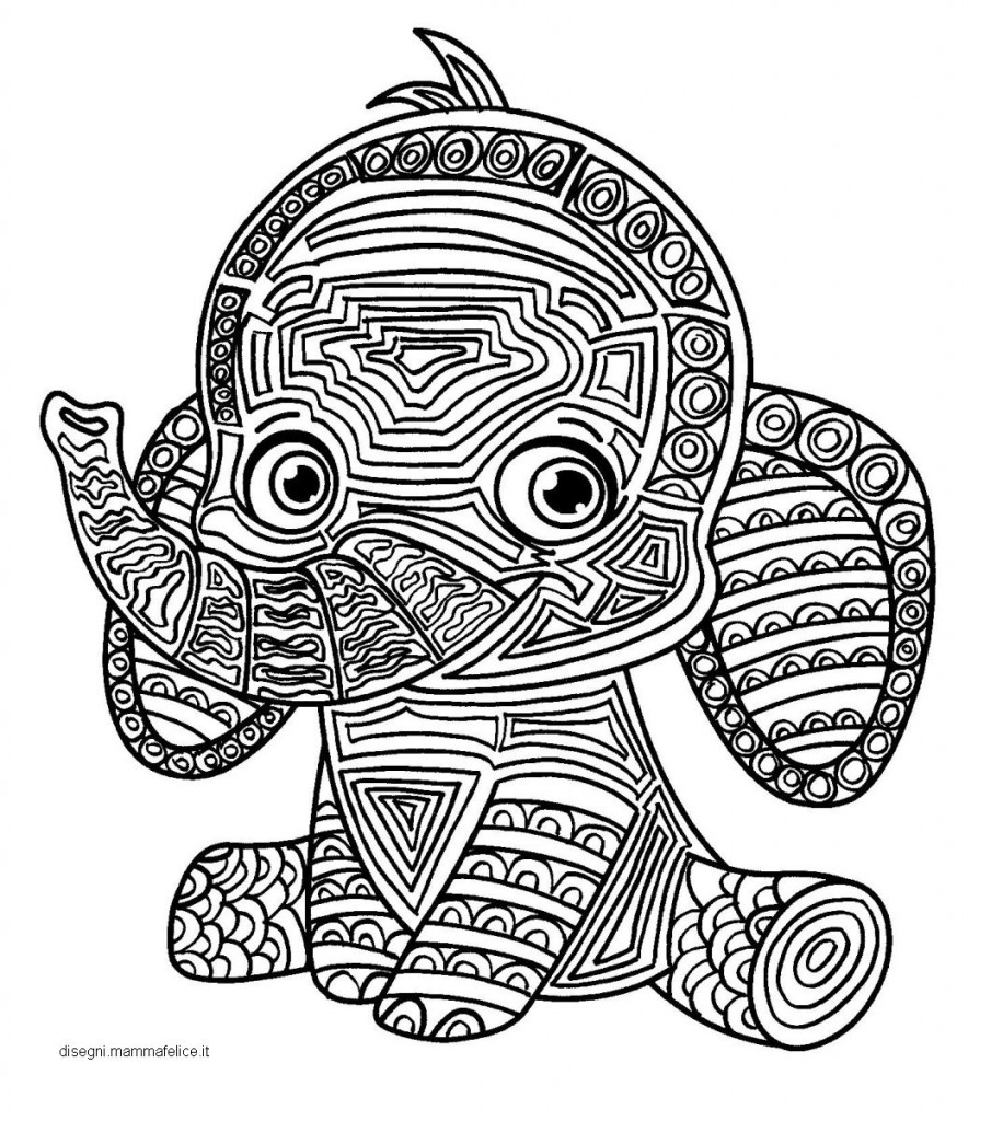 Mandala per bambini da colorare l 39 elefante disegni for Disegni di mandala semplici