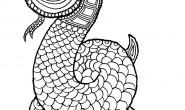 Mandala da colorare per bambini: il serpente