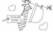 Disegni per bambini: Festa del Papà