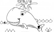 Disegni da colorare per bambini: La balena felice