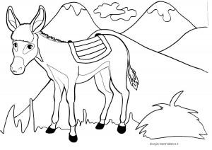 disegno-da-colorare-per-bambini-asinello-e-montagne