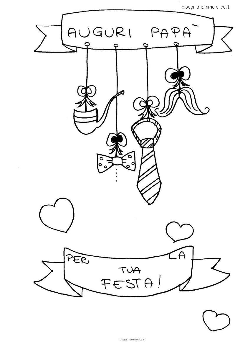 Fabuleux Disegni per bambini: Festa del Papà | Disegni Mammafelice DG34